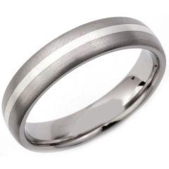 COI Tungsten Carbide Center Line Dome Court Ring-TG2988