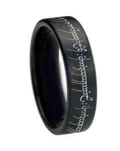 COI Black Tungsten Carbide Lord of The Ring Ring-TG3367