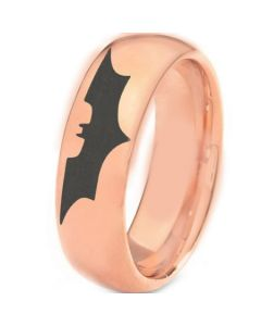 *COI Rose Tungsten Carbide Batman Dome Court Ring-TG3382