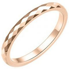COI Rose Tungsten Carbide Faceted Ring - TG3626