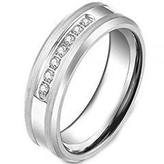 COI Tungsten Carbide Cubic Zirconia Ring-TG3799