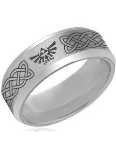 COI Tungsten Carbide Legend of Zelda Celtic Ring-TG4123