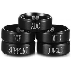 COI Black Tungsten Carbide Ring With Custom Engraving-TG4431