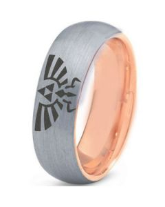 COI Tungsten Carbide Rose Silver Legend of Zelda Ring-TG4441