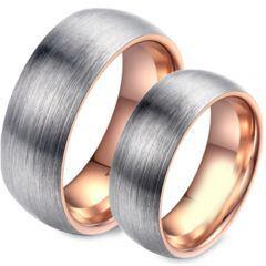 COI Tungsten Carbide Rose Silver Dome Court Ring-TG4495
