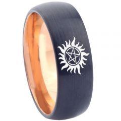 COI Tungsten Carbide Black Rose Supernatural Ring-TG4562
