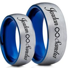 COI Tungsten Carbide Ring With Custom Engraving-TG5004