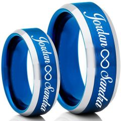 COI Tungsten Carbide Ring With Custom Engraving-TG5007