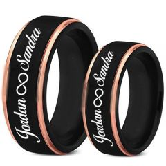 COI Tungsten Carbide Ring With Custom Engraving-TG5018
