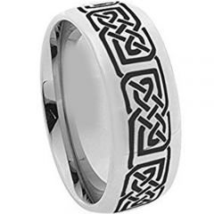 COI Tungsten Carbide Celtic Dome Court Ring-TG5107