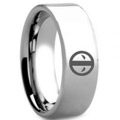 COI Tungsten Carbide DeadPool Pipe Cut Flat Ring-TG5166