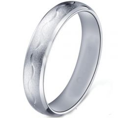 COI Tungsten Carbide Celtic Beveled Edges Ring-TG5181