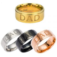 COI Tungsten Carbide Daddy Ring With Custom Engraving-TG5208