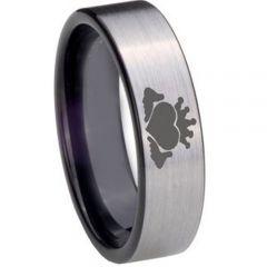 COI Tungsten Carbide Black Silver Mo Anam Cara Ring-TG850