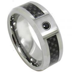 COI Tungsten Carbide Carbon Fiber Zirconia Ring-TG3698