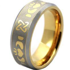 COI Tungsten Carbide Mo Anam Cara Celtic Ring-TG003AA