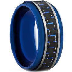COI Blue Titanium Carbon Fiber Step Edges Ring-JT1300A