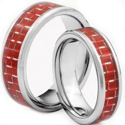 COI Titanium Beveled Edges Ring With Carbon Fiber-1446