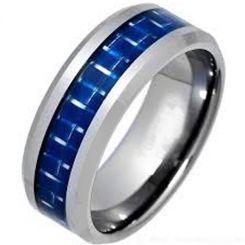 COI Titanium Beveled Edges Ring With Carbon Fiber-1450