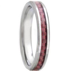 COI Titanium Beveled Edges Ring With Carbon Fiber-1462