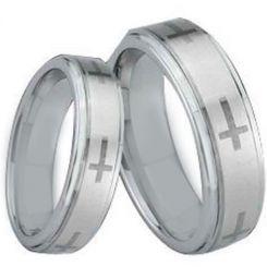 *COI Tungsten Carbide Cross Step Edges Ring-TG1510