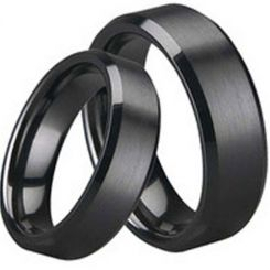 COI Black Titanium Beveled Edges Ring-1536