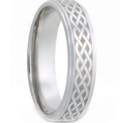 *COI Titanium Celtic Step Edges Ring - JT1558