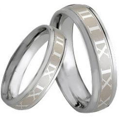 COI Tungsten Carbide Ring With Roman Numerals-TG164