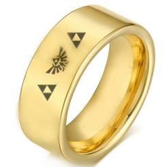 COI Gold Tone Tungsten Carbide Legend of Zelda Ring-TG2220
