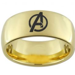 COI Gold Tone Tungsten Carbide Marvel Avenger Ring-TG2243AA