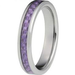 COI Titanium Beveled Edges Ring With Carbon Fiber-JT2325