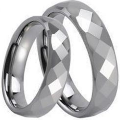 COI Tungsten Carbide Faceted Wedding Band Ring-TG234