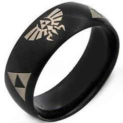 COI Black Tungsten Carbide Legend of Zelda Ring-TG2376