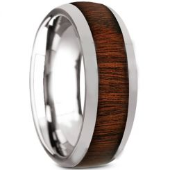 COI Titanium Dome Court Ring With Wood-2384