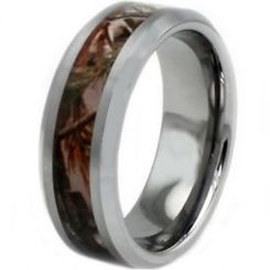 COI Titanium Camo Beveled Edges Ring-JT2679