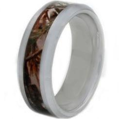 COI Titanium Camo Beveled Edges Ring-JT2679