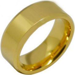 COI Gold Tone Titanium Beveled Edges Ring-2724