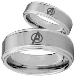 COI Tungsten Carbide Marvel Avengers Step Edges Ring-2740