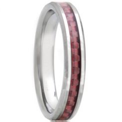 COI Tungsten Carbide Beveled Edges Ring With Carbon Fiber-TG2946