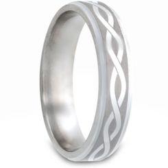 *COI Tungsten Carbide Celtic Step Edges Ring-TG2980