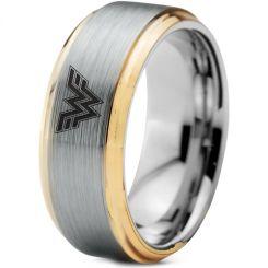 *COI Tungsten Carbide Wonder Woman Step Edges Ring-TG3254AA