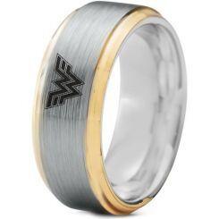 *COI Titanium Gold Tone Silver Wonder Woman Ring-3233