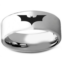 COI Tungsten Carbide BatMan Pipe Cut Flat Ring-TG3236