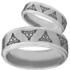 COI Tungsten Carbide Trinity Knots Ring-TG326
