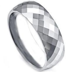 COI Titanium Faceted Ring-4108