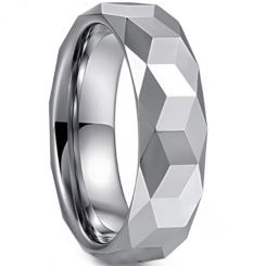 COI Tungsten Carbide Faceted Ring-TG3363