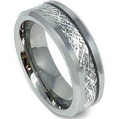 COI Titanium Meteorite Beveled Edges Ring-JT3387