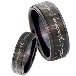 COI Black Titanium Lord of The Ring Step Edges Ring-3394