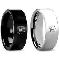 COI Tungsten Carbide Black/Silver Spider Man Ring-TG3432BB
