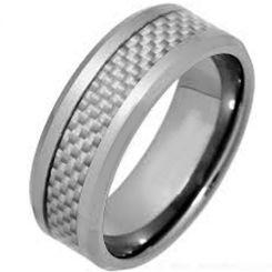 COI Titanium Beveled Edges Ring With Carbon Fiber-3520
